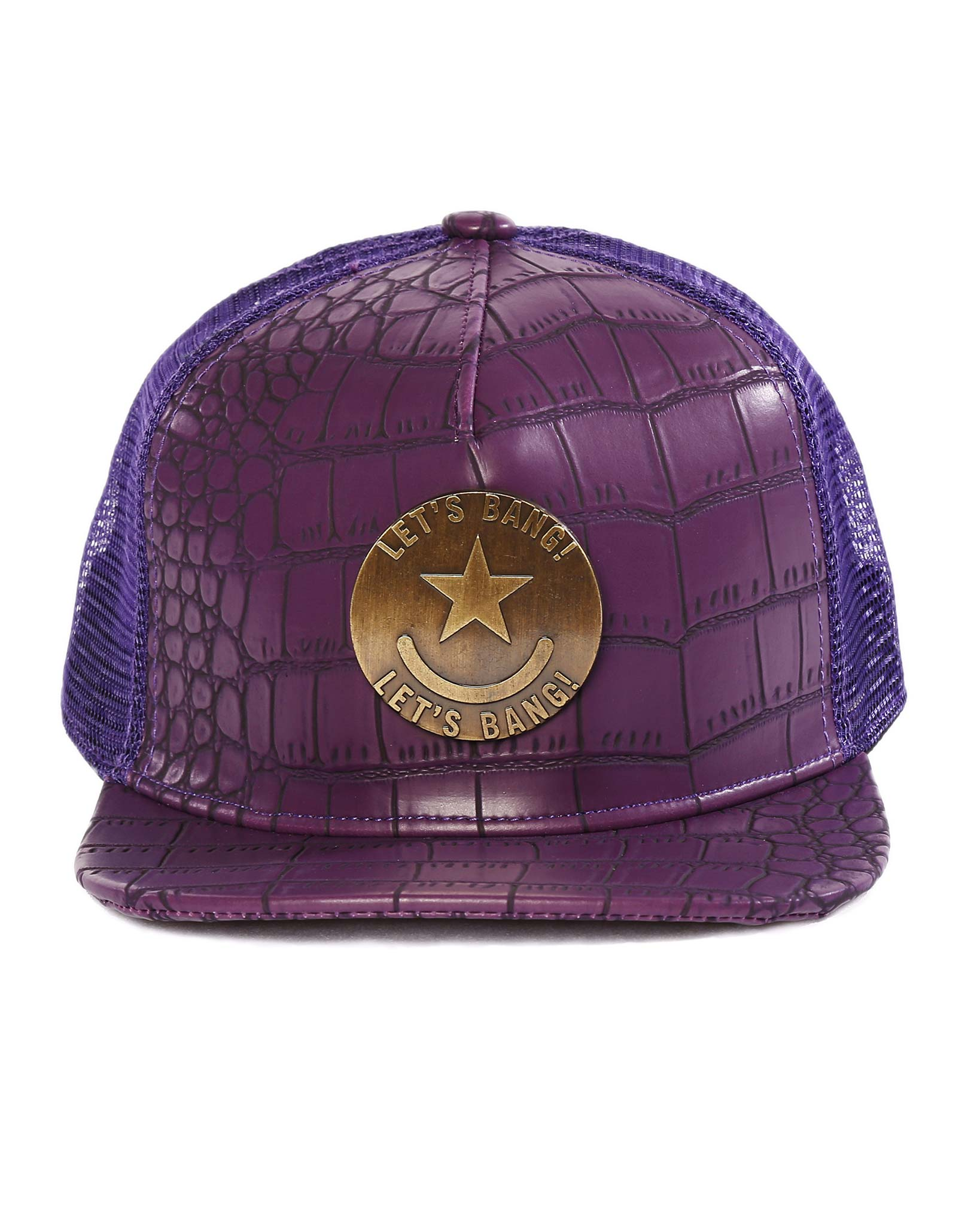 LET'S BANG Hat (Purple) Bang Clothes Beach Nightlife Gym Gear For Men Accessories