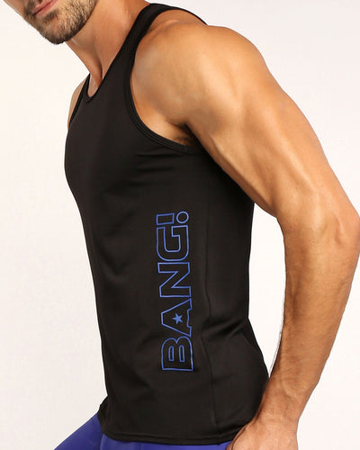 MACH BLACK Tank Top Bang Clothes Men Tank Tops Beach Gear lateral front view
