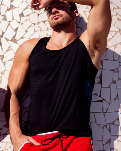 MACH BLACK Tank Top Bang Clothes Men Tank Tops Beach Gear editorial