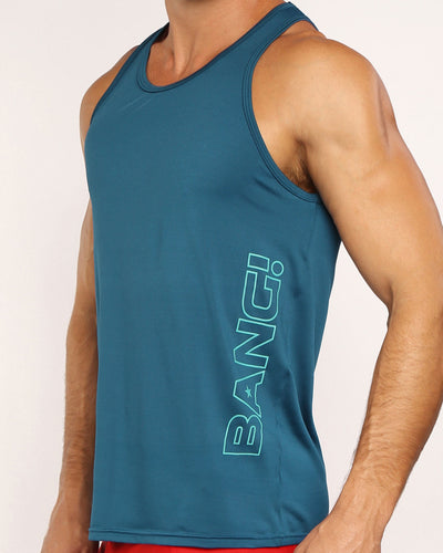 MACH BLUE Tank Top Bang Clothes Men Tank Tops Beach Gear lateral front side