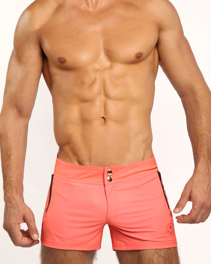 Bang Clothes Men Swimwear Swimsuit Beachwear MIAMI CORAL Beach Shorts 190522