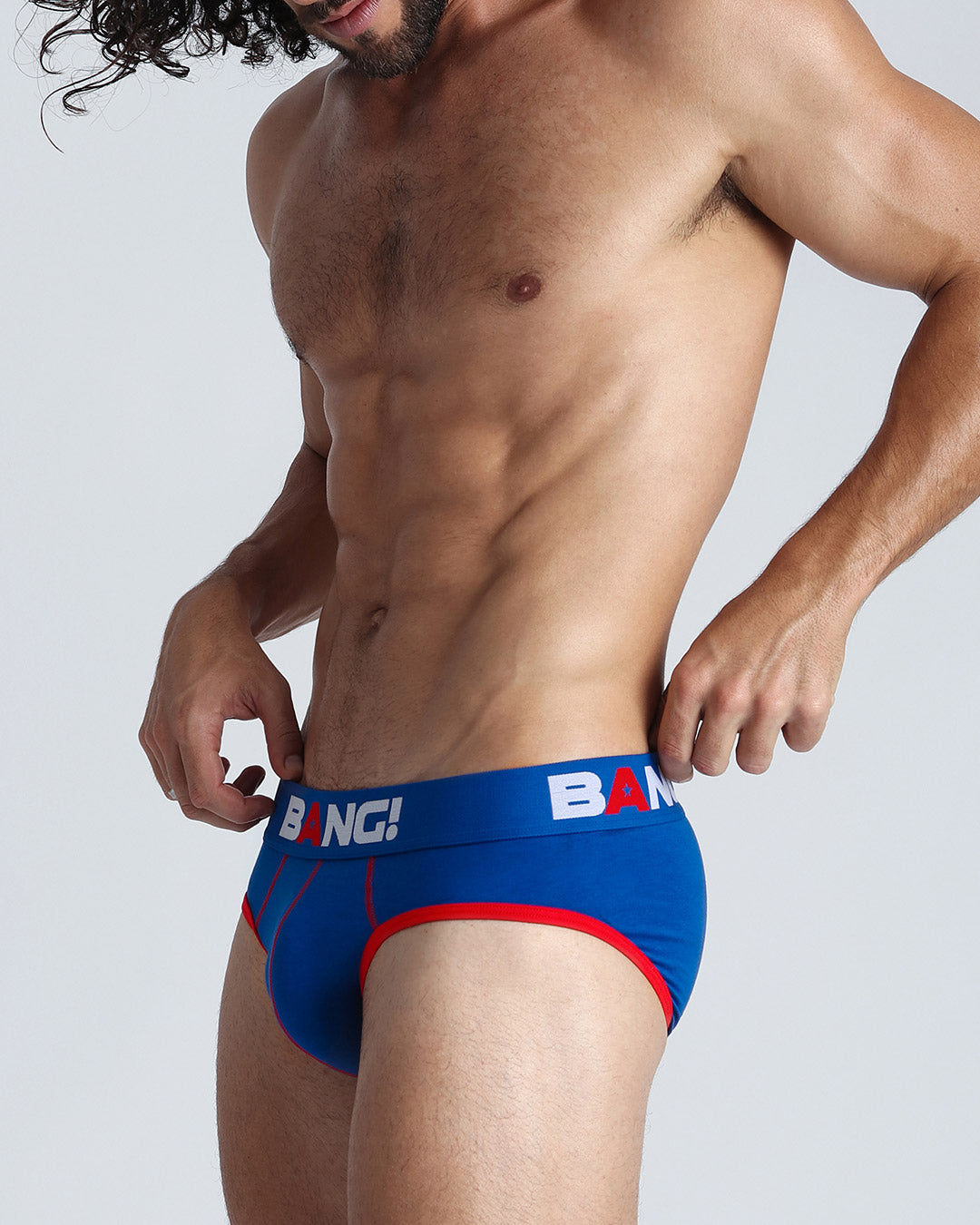 This men's premium cotton brief is equipped with a low rise fit that provides style and performance.