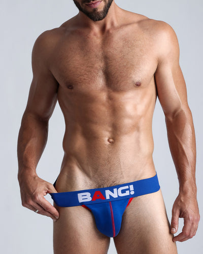This men's premium cotton jockstrap is equipped with a low rise fit that provides style and performance.