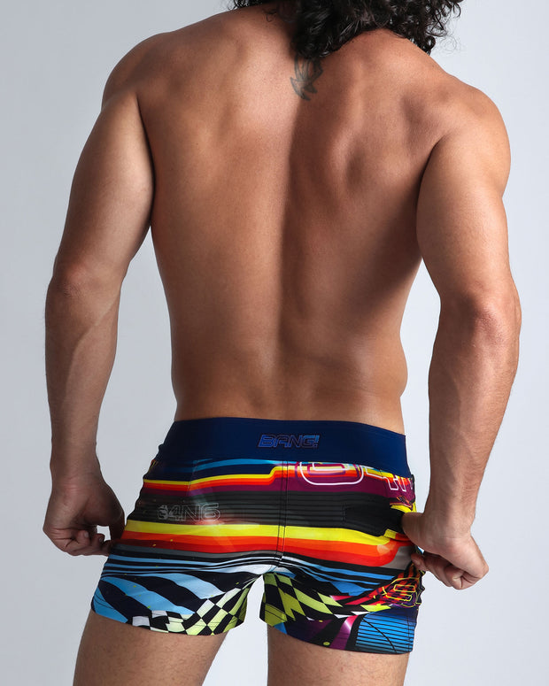 POOL POSITION Beach Shorts Bang Clothes Men Swimwear Swimsuits back view