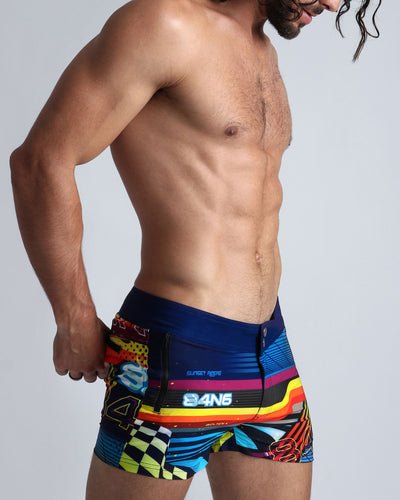 POOL POSITION Beach Shorts Bang Clothes Men Swimwear Swimsuits right side view