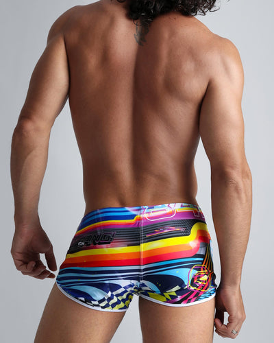 Pool Position Swim Shorts Bang Clothes Men Swimwear Swimsuits back view