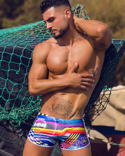 Pool Position Swim Shorts Bang Clothes Men Swimwear Swimsuits editorial