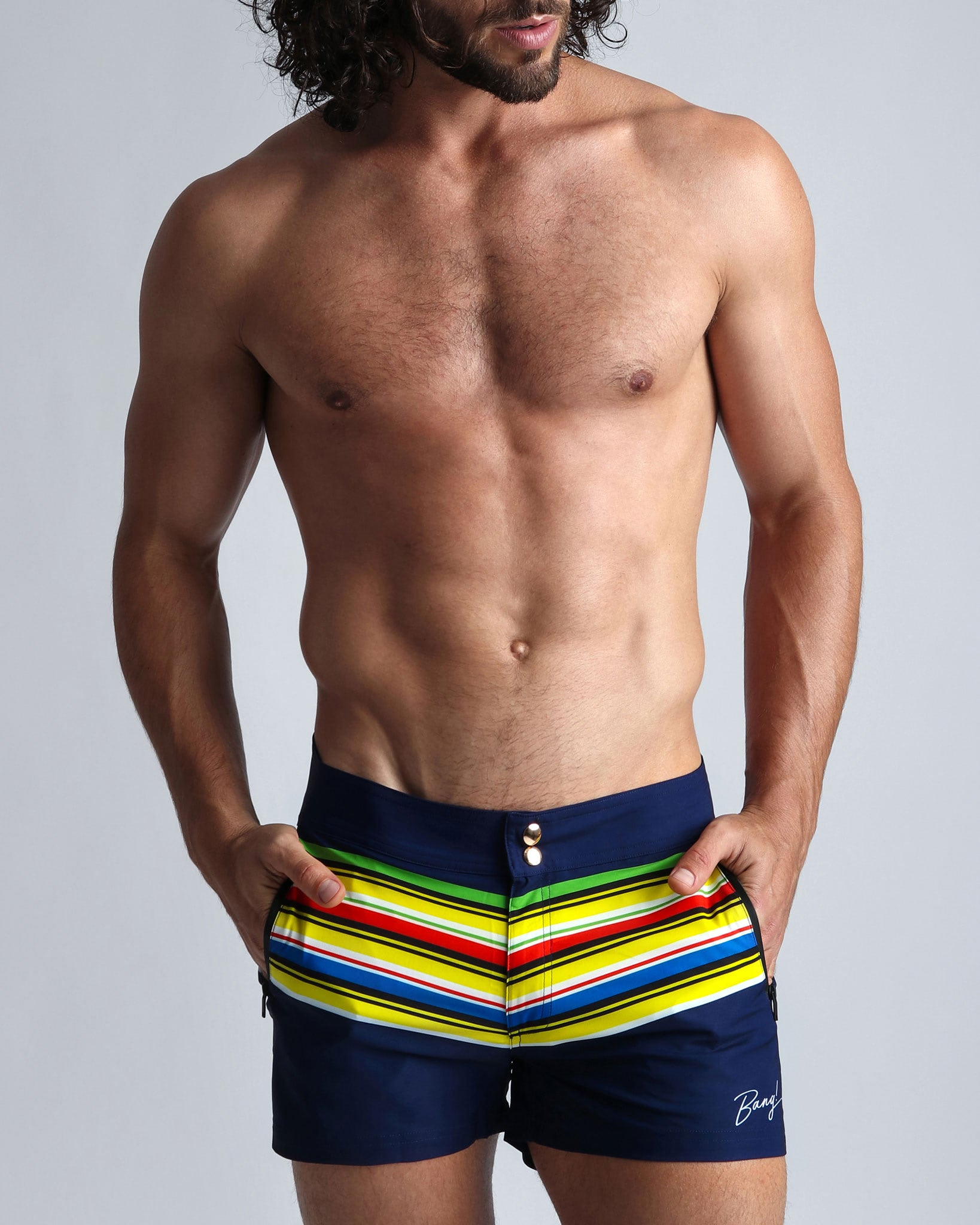 STRIPE'A'POSE DUB Beach Shorts Bang Clothes Men Swimwear Swimsuits