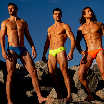 Solid Colors Swim Mini BrIef Bang Clothes Men Swimwear Swimsuits Promo 190409