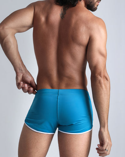 Sporty Swim Shorts Bang Clothes Men Swimwear Swimsuits back view