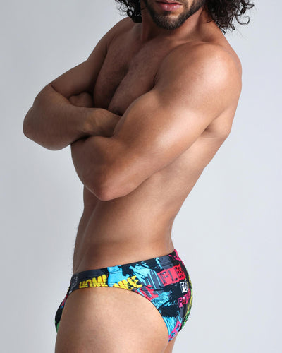 Idol Swim Mini Brief Bang Clothes Men Swimwear Swimsuits lateral view left side