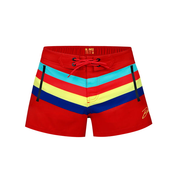 Frontal view of a sexy men's flex shorts by the Bang! Clothes brand of men&