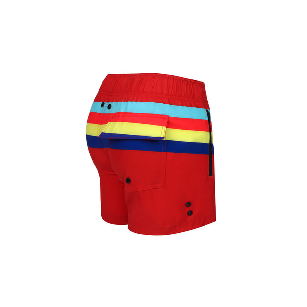Back view of a sexy men's flex shorts by the Bang! Clothes brand of men&