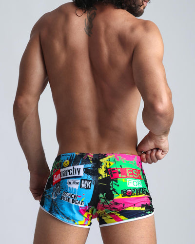 Sunnarchy Swim Shorts Bang Clothes Men Swimwear Swimsuits back view