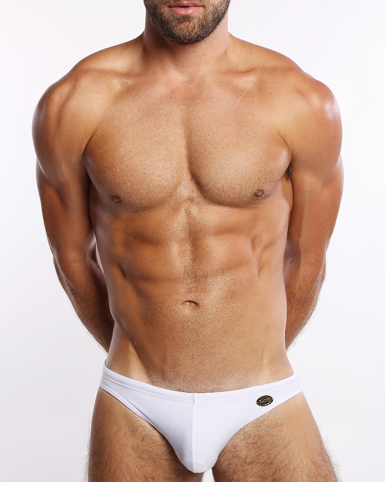 White Swim Mini Brief Bang Clothes Men Swimwear Swimsuits