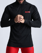 Workout Shirt Black Bang Clothes Beach Nightlife Gym Gear For Men Accessories in black with brand logo in red