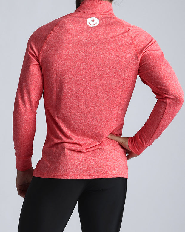 Workout Shirt Miami Coral Bang Clothes Beach Nightlife Gym Gear For Men Accessories in red coral pink with white smiley logo