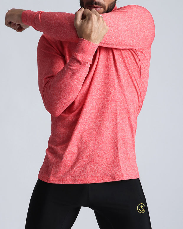 Workout Shirt Miami Coral Bang Clothes Beach Nightlife Gym Gear For Men Accessories in red coral pink