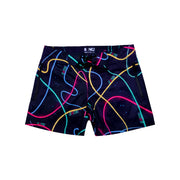 Frontal view of a sexy men's beach shorts by the Bang! Clothes brand of men's beachwear from Miami.