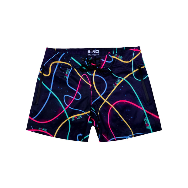 Frontal view of a sexy men's beach shorts by the Bang! Clothes brand of men&