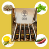 Flavored Olive Oil Favorites Sampler: Meyer Lemon+Basil+Tuscan Herb+Jalepeño