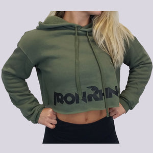 Iron Rhino® Women's Cropped Fleece Hoodie