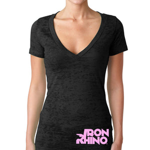 Iron Rhino® Ladies Burnout V-Neck