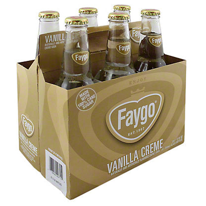 Faygo Vanilla Creme 6 Glass Bottle Case