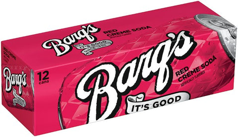Barq's Red Cream Soda 12 Can Case