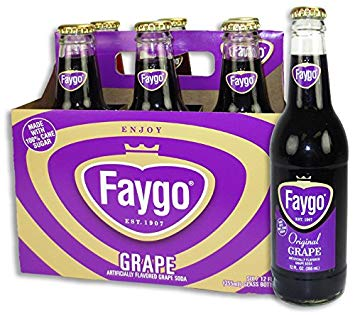Faygo Grape 6 Glass Bottle Case