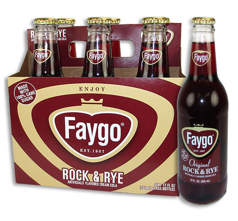 Faygo Rock N Rye 6 Glass Bottle Case