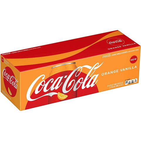 Coke Orange Vanilla 12 Can Case