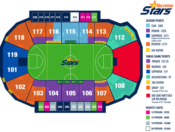 2017-18 Tacoma Stars Season Ticket Deposit