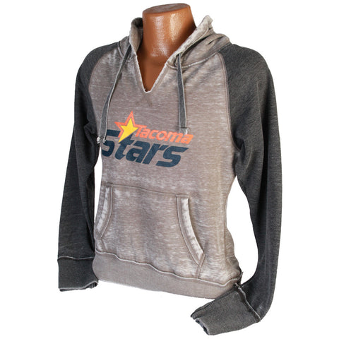 Women's Burnout Pullover Hooded Sweatshirt