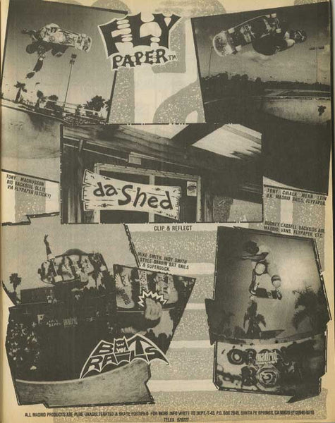 Flypaper/Bat Rails Ad - Thrasher October 1987