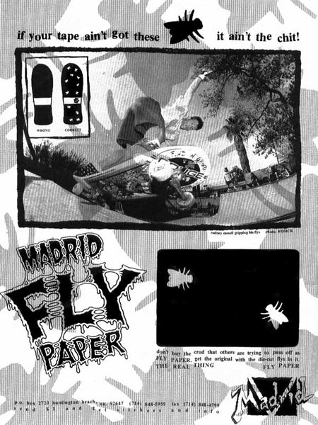 Rodney Cassell Flypaper Ad - Transworld October 1989