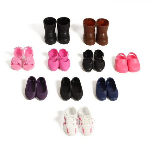 Beverly Hills Doll Collection 10 Pairs Of Shoes Fits 18'' Doll