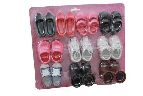 10 Pair Doll Shoes for 18