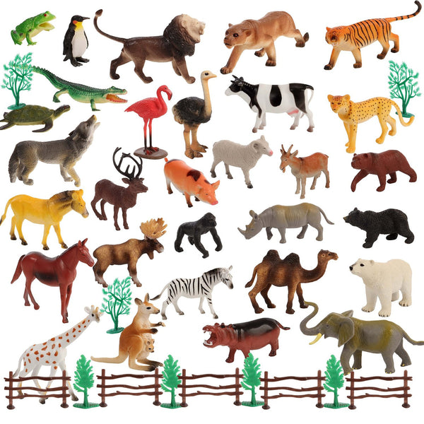 50 Piece Large Size Animal Set 30 Animals Amp 20 Accessories