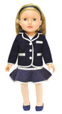 "Beverly Hills 18"" Doll with Blonde Hair, Dressed in a Blue and White Blazer"