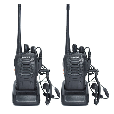 Walkie Talkie With 2 Ear Pieces