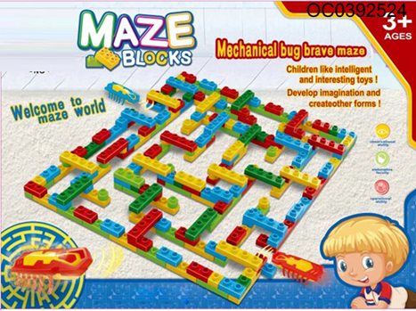 Maze Blocks With 2 Bugs