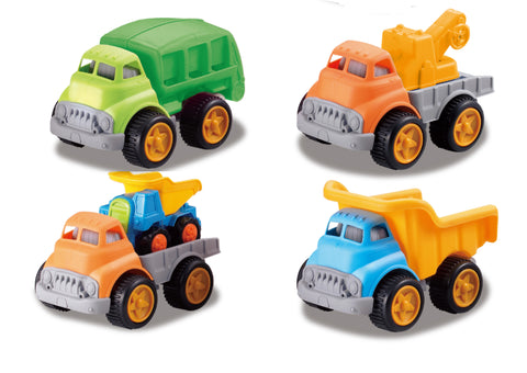 Set Of 4 Construction Trucks
