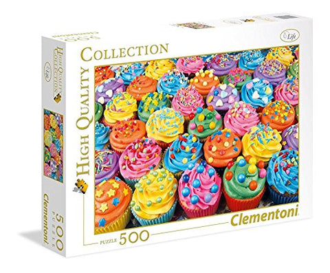 Colorful Cupcakes - 500 Piece Puzzle