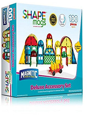 Magnetic Stick N Stack, Shape Mags, DELUXE Set, 100 Pieces