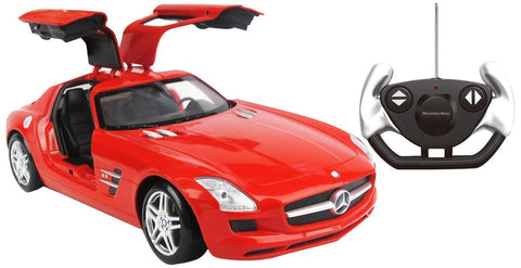 Remote Control Mercedes Benz with Steering Wheel Red 1:14