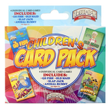 4 Pack Card Games - Go Fish, Old Maid,Slap Jack, Animal Rummy