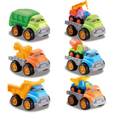 Set Of 9 Colorful Construction Trucks