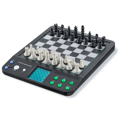 Voice Master Electronic Chess and Checkers Set with 8-In-1 Board Games