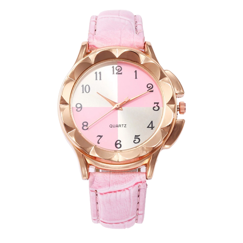 Women Watches Leather Band Luxury Quartz